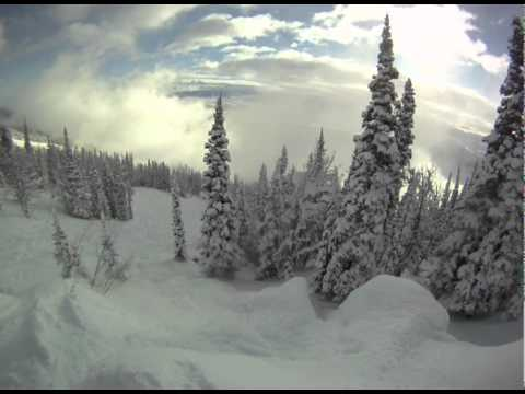 jackson hole - Having a blast on a sunny powder morning at the village, sick follow cam shots with the GoPro HD.
