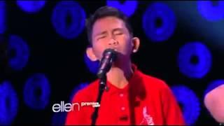 [2013] PROUD FILIPINO KID WOWS ELLEN DEGENERES WITH GOLDEN VOICE!