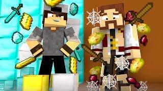 Minecraft: CORRIDA PVP - RICO vs POBRE!
