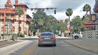 St. Augustine (FL) United States  city pictures gallery : Driving Downtown - St Augustine Florida USA
