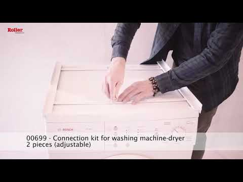 Laundry Stacking Kit 2-piece Adjustable for Washing Machine or Dryer home appliance - Spare Parts