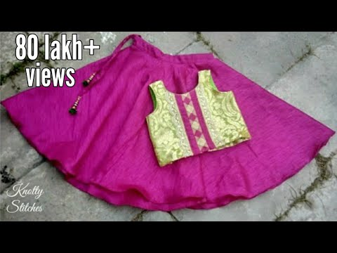 Video kids designer lehenge choli cutting and stitching in hindi /easy step by step tutorial download in MP3, 3GP, MP4, WEBM, AVI, FLV January 2017