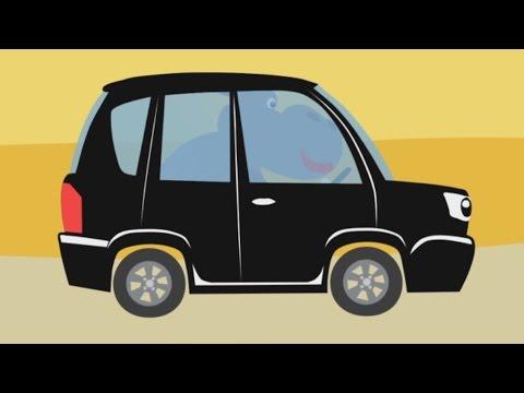 МАШИНКИ - Развивающая веселая детская песенка мультик малышей про разные машины и зверей животных онлайн видео