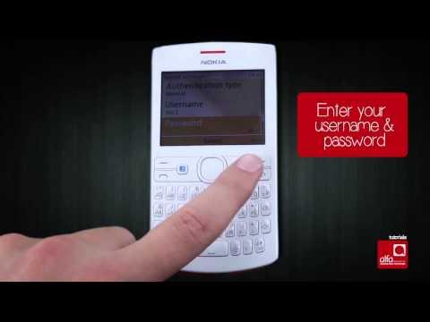 كيف تدخل إعدادات الإنترنت التابعة لألفا على هاتف Nokia Acha