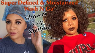 Video How I Get A Super Defined & Moisturized Wash And Go For A Week+ Using The Shower Cap Method MP3, 3GP, MP4, WEBM, AVI, FLV Agustus 2019