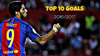 """Enjoy Luis Suarez's top 10 goals in 2016/17 season in my opinion! ----------------------------------------------------------------------------------------------STAY UPDATE! LIKE, SUBSCRIBE AND SHARE!Video Created by: FCB10HD / Juraj GaziSoftware used: Sony Vegas Pro 13If you like my videos don't forget to follow me on this links: • FACEBOOK: http://on.fb.me/1PcwJJj• TWITTER: https://twitter.com/FCBC10• INSTAGRAM: https://www.instagram.com/fcb10hd_footballeditor/• DONATE: https://www.paypal.com/cgi-bin/webscr?cmd=_s-xclick&hosted_button_id=4FN5686MKXDAL----------------------------------------------------------------------------------------------SOUNDTRACK: Above & Beyond ft. Gemma Hayes - Counting Down The Days (WYOMI Remix)THANKS FOR WATCHING! If you're looking for more motivational videos, goals & skills, promos, trailers, mini-films and edits don't forget to subscribe to my channel. FCB10HD - 2K17""""Copyright Disclaimer Under Section 107 of the Copyright Act 1976, allowance is made for """"fair use"""" for purposes such as criticism, comment, news reporting, teaching, scholarship, and research. Fair use is a use permitted by copyright statute that might otherwise be infringing. Non-profit, educational or personal use tips the balance in favor of fair use.""""----------------------------------------------------------------------------------------------IGNORE TAGS:FC Barcelona, Marc-André ter Stegen, Jasper Cillessen, Jordi Masip, Gerard Piqué, Javier Mascherano, Jérémy Mathieu, Samuel Umtiti (new signing), Lucas Digne (new signing), Jordi Alba, Alex Vidal, Douglas (loaned-out), Sergio Busquets, Sergi Samper (loaned-out), Andrés Iniesta, Ivan Rakitic, Arda Turan, Rafinha, Sergi Roberto, André Gomes, Denis Suarez, Neymar, Lionel Messi, Luis Suárez, Paco AlcacerLionel Messi ● 10 Virtually Impossible Goals ► Not Even Possible on PlayStation ! HDLionel Messi ► 2016 - The King ● Dribbling Skills, Goals HDLionel Messi ● Overall 2016 ● HDLionel Messi ● Overall 2015 ● HDLionel Messi ●"""