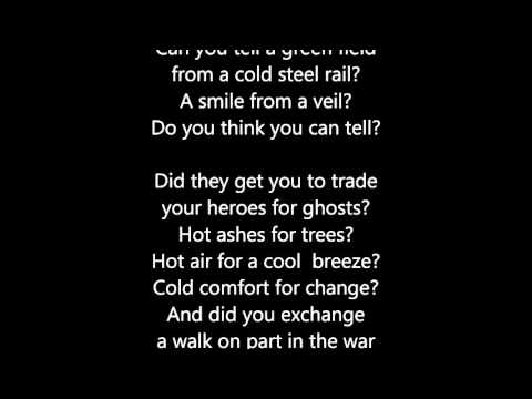 Video Pink Floyd - Wish You Were Here  - Scroll Lyrics