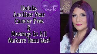 Update! Another Year Cancer Free & Message to all Mature Beauties!Hi Everyone!Last year, I recorded a similar video. However, I was just starting on YT and had about 100 or so subscribers. Today, I hope to reach more viewers! I'm grateful that it's another year, and I'm still cancer free and sharing a message to all mature beauties!xoxo💋Marlene💞Visit the fabulous ladies on YouTube:http://ohcarolshow.blogspot.com/▶💄For New Creators:Sub4Sub: Is Sub For Sub Good or Bad?http://bit.ly/2paWckN💞💞How I save money:eBates: https://www.ebates.com/r/THOMPS3547?eeid=28187 (we'll both receive a gift card for signing up)DiscountCodes: I do not receive any monetary compensation if you use my codes. This is just a savings for you.💜SqHair Bands: MARLENE OR MARLENE6 (both codes will work and good until September 30, 2017; $3.99 off a $20 or more order) https://sqhairbands.com/💜American Culture Pure Blends Shampoo & Conditioner (Use my code MARTHOM25 to save 25%)http://bit.ly/2oW5NXZ💜If you love art, stop by my brother's (William Braemer) art gallery in Miami! This video includes a bit of footage from our beautiful Miami!Art Fusion Galleries: ( Luminescent Infusion Opening Night Event, April 26) http://bit.ly/2qeumBu📧Business Inquiries: fabglam50@gmail.com📧📧📧📧📧📧📧📧📧📧📧📧📧📧📧📧📧📧📧📧📧📧📧📧Send Me A Postcard Fab and Glam Over 50125 E Merritt Island CausewaySte 107   #270Merritt Island, Fl 32952💜💜FTC: I receive a few pennies when you click on the magiclinks below. There will NO additional charges to your purchase(s).💜What I'm Wearing:😍Top: Macy's💜Products Used: 💜Estee Lauder DoubleWear Stay in Place Foundation in Spiced Sand (4N2): http://go.magik.ly/ml/1l3l/💜BECCA X Chrissy Teigen Glow Face Palette: http://go.magik.ly/ml/540h/💜Viseart Theory Palette in Minx o2http://go.magik.ly/ml/4z5j/💜Stila Huge Extreme Lash Mascara http://go.magik.ly/ml/4z6b/💜MAC Prep & Prime Fix + Makeup Setting Sprayhttp://go.magik.ly/ml/50g8/💜BECCA Soft Light Blurring Setting Powder http://go.magik.ly/ml/4gx3/💜Kat Von D Loc
