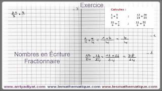 Maths 5ème - Les nombres en écriture Fractionnaire Exercice 5