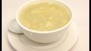 Chicken sweet corn soup is a classic British Chinese soup popular both in restaurant and take away. This is a very easy to make soup. Cooked chicken breast i...
