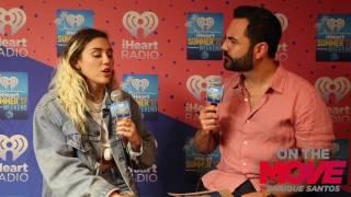 Miley Cyrus with Enrique Santos at iHeart Summer 17
