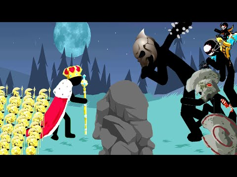 EPIC King & Golden Spearton Army VS ALL BOSSES STICK WAR LEGACY