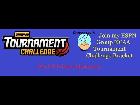 My ESPN Tournament Challenge Group  March Madness 2018  ©