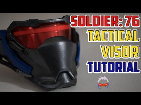 Soldier 76 Mask Tutorial Overwatch Cosplay