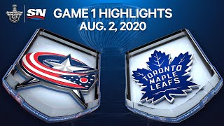 NHL Highlights | Blue Jackets vs. Maple Leafs, Game 1 – Aug. 2, 2020 by Sportsnet Canada