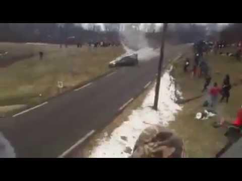 WRC Rallye Monte Carlo 2015 - Robert Kubica Crash