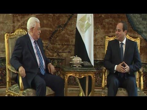مباحثات بين الرئيس السيسي والرئيس الفلسطيني
