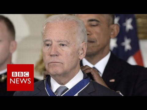 Obama-Biden 'bromance' ends in tears - BBC News