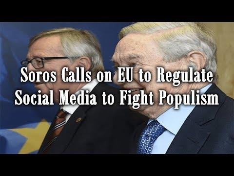 Soros Calls on EU to Regulate Social Media to Fight Populism