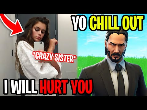 His Little Sister Tried Ruining My Life - Fortnite