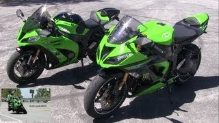 5. 2013 Kawasaki Ninja 636 ZX6R & Ninja ZX10R Side by Side Comparison