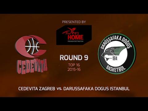 Highlights: Top 16, Round 9, Cedevita Zagreb 77-83 Darussafaka Dogus Istanbul