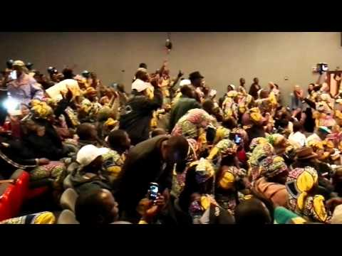 Israel, Jerusalem - The incredible singing of the Christian pilgrims from Nigeria.