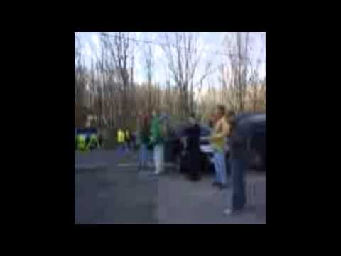 first video outside sandy hook elementary school on friday morning
