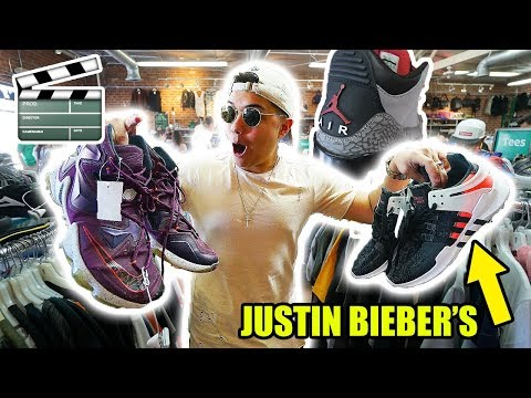 THRIFT SHOPPING IN HOLLYWOOD!! RICH SNEAKERS FOUND!!