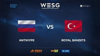 AntiHype vs Royal Bandits Reborn, WESG 2017 Dota 2 European Qualifier Finals