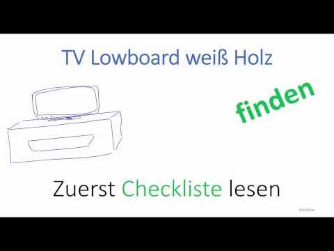 Lowboard weiß Holz kaufen - Ein gutes TV Lowboard in weiß mit Holz kaufen - Checkliste