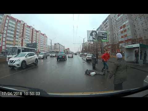 Авария с пешеходом в Барнауле