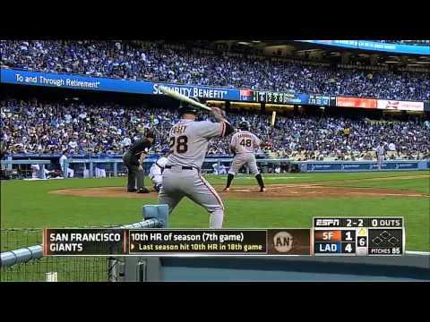 Giants vs. Dodgers 06.04.2014 [Full Game HD] (видео)