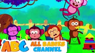 Five Little Monkeys Jumping On The Bed | Nursery Rhymes | Kids Songs | All Babies Channel