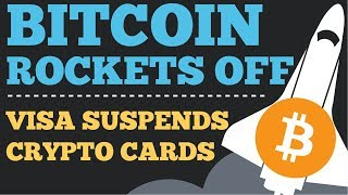 Crypto News | Bitcoin Rockets Off As Altcoins Bleed! Visa Suspends Crypto Cards! Doge Coin Mooning!