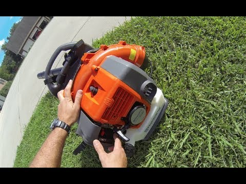 blower - Video review of: Husqvarna 50cc 2 cycle Backpack Blower Bought DIRECT using POWER EQUIPMENT DIRECT website. Which helps me decide what to buy by giving equip...