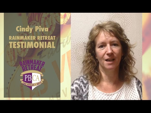 Rainmaker Retreat 2015 - Cindy Piva (Master Coach)