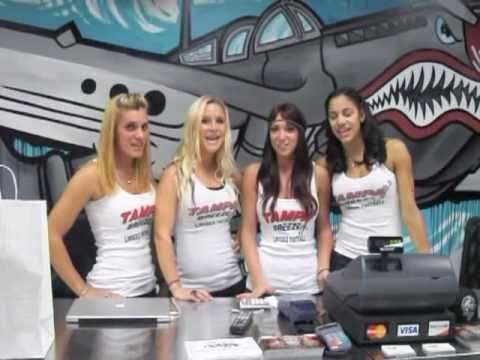 Flight School Hosts The Tampa Breeze Lingerie Football Team