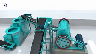 Complete set of organic fertilizer manufacturing process equipment youtube video