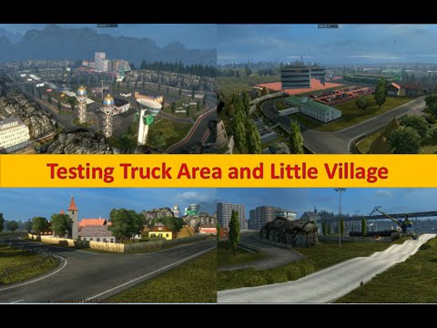 [RO] Testing Truck Area and Romanian Village v1.0