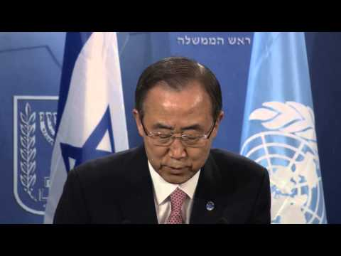Netanyahu - Statements by Prime Minister Benjamin Netanyahu and UN Secretary General Ban Ki-moon הצהרות מפי ראש הממשלה בנימין נתניהו ומזכ