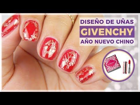 Diseños de uñas - Diseño de uñas Año Nuevo Chino Givenchy - Uñas inspiradas en maquillaje