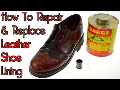 Repair & Replace Leather Shoe Lining - Vintage Fluevog Angels
