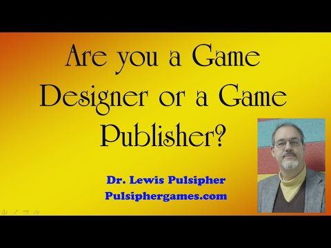 Are you a game designer or a game publisher?