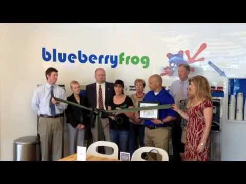 Blueberry Frog Ribbon Cutting