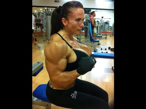 female bodybuilding, trained for so many years (видео)
