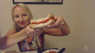 ASMR   Making & Eating Tomato Sandwiches