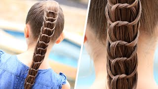 How to Create a Knotted Ponytail | Cute Hairstyles - YouTube