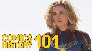 Video Captain Marvel: What to Know About the New Movie After Infinity War (Comics History 101) MP3, 3GP, MP4, WEBM, AVI, FLV Mei 2018