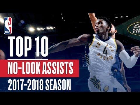 Top 10 No-Look Assists: 2018 NBA Season (видео)